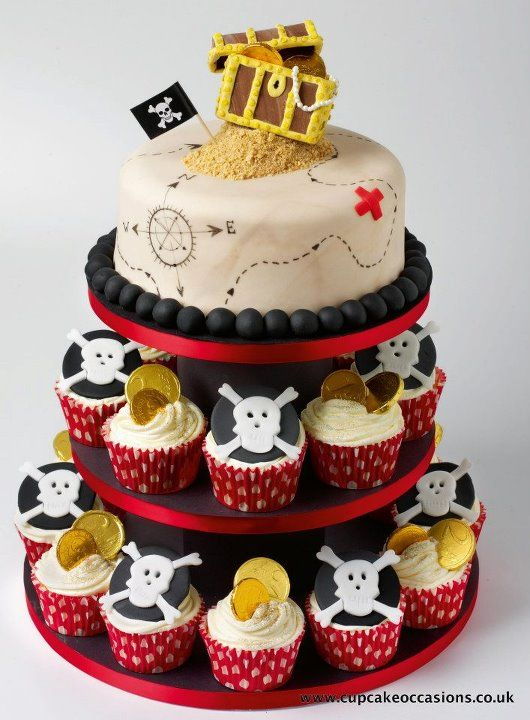 cupcake Pirate cake for your Kids Pirate Party Ideas