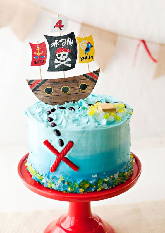 Pirate cake for your Kids Pirate Party Ideas