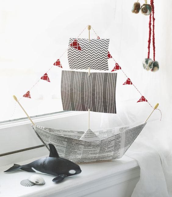 pirate boat - - Kids Pirate Party Ideas