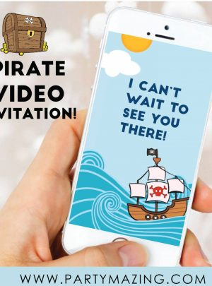 Pirate Video Invitation | Toddler Animated Invitation | E482