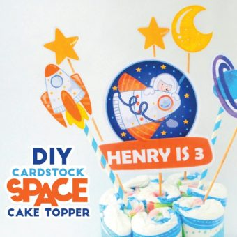 DIY How to make a Space Rocket Cake Decoration