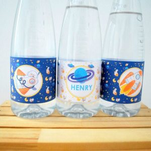 DIY Space Water Bottle Labels | Printable Outer Space Rocket Labels | Drink Label  PK21 | E493
