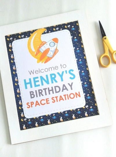 Outer Space Printable Welcome Sign | E491