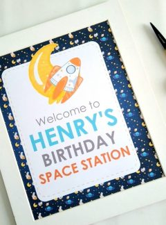 Outer Space Printable Welcome Sign   E491