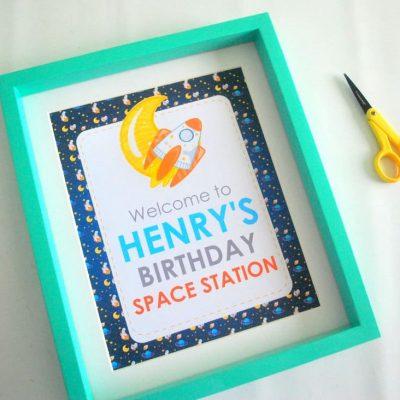 Editable Outer Space Printable Welcome Sign | E491