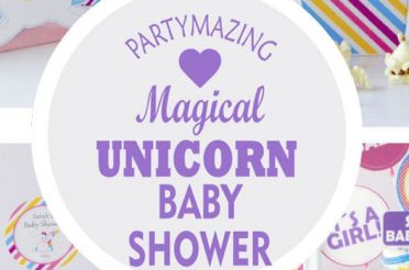 Magical Unicorn Baby Shower Party Set