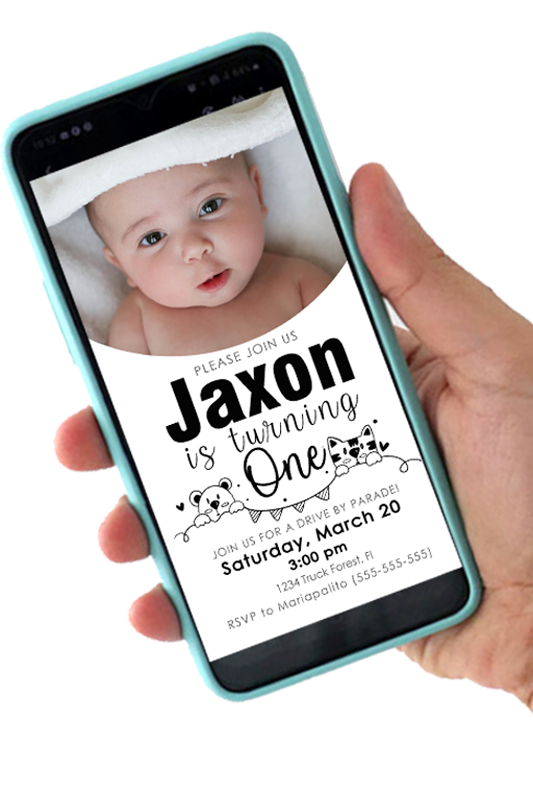 Planning your first baby Birthday celebration? Do not worry about paper invites and go digital this year. Notify your friends using a cute Digital Invitation.