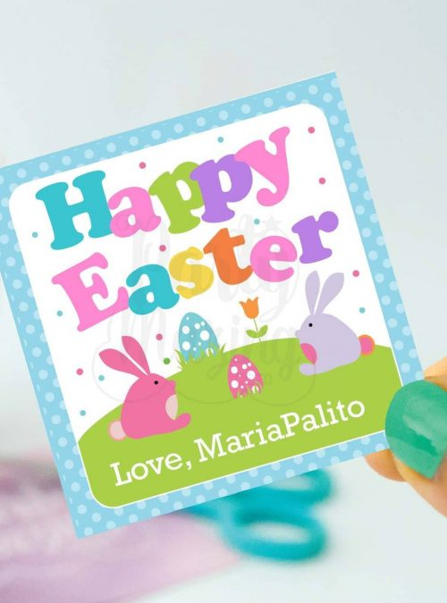 E160 SQUARE TAGS EASTER BUNNY_COVER8