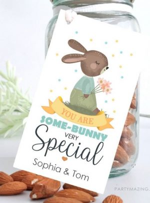 You are Some-Bunny Special Printable Easter Bunny Gift Tag E515