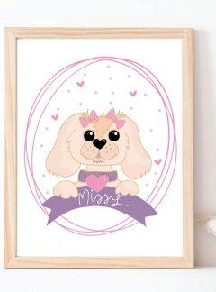 Custom Pet Portait Cartoon Style Printable Illustation E401