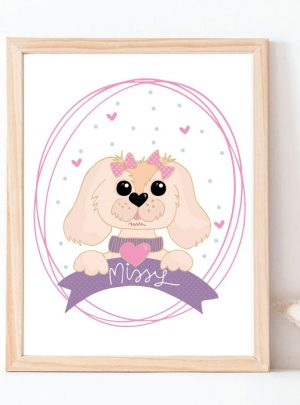 Custom Pet Portait Cartoon Style Printable Illustation E401