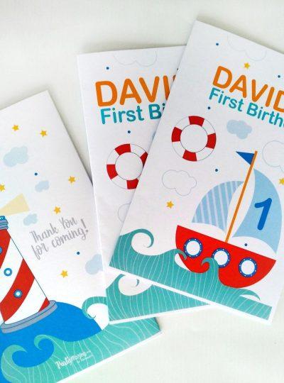Nautical Birthday Printable Coloring Book E427