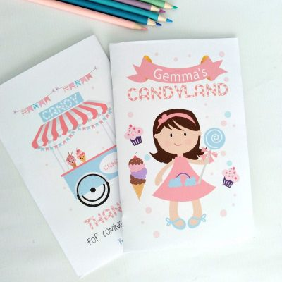 Personalized Printable Candyland Coloring Book | PK05 | E414