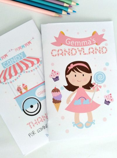 Personalized Printable Candyland Coloring Book E414