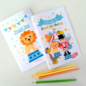 Personalized Circus Printable Coloring Books | E424