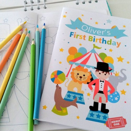 Personalized Circus Coloring Books | Printable Toddler Birthday Party Favor | Children's Activity Booklet Party Favors | E424