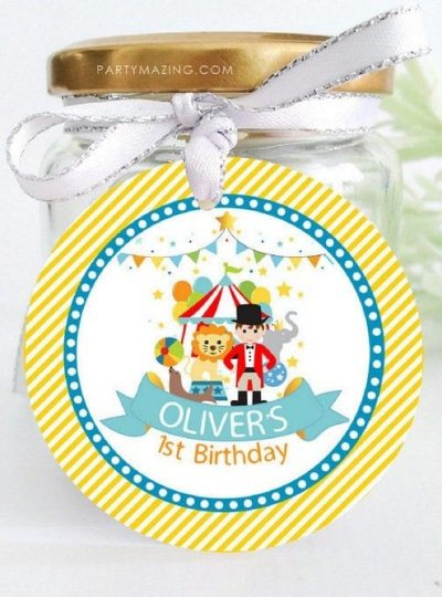 Personalized Circus Printable Party Favor Tag | E514
