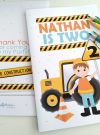 Personalized Construction Coloring Books | Printable Toddler Birthday Party Favor | Little Kids Activity Booklet | PK11 | E413