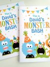 Personalized Little Monster Coloring Book | Printable Birthday Party Favor | E260