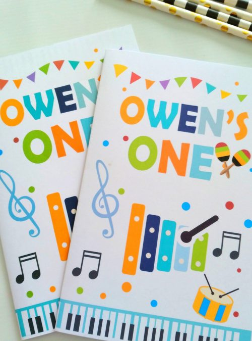 Personalized Music Coloring Books | Printable Birthday Party Favor | kid's Activity Booklet | Party Favors | PK11 | E435