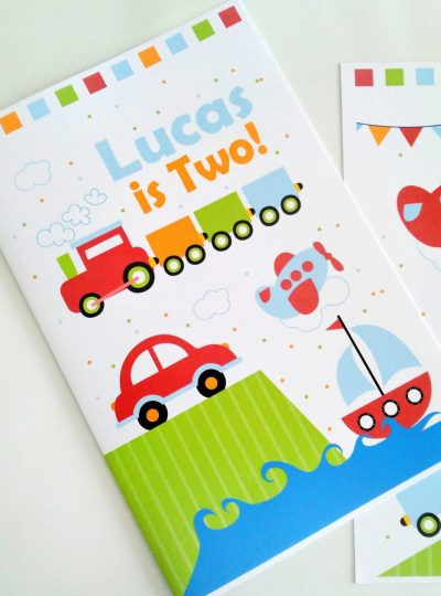 Personalized Transportation Printable Coloring Book E426