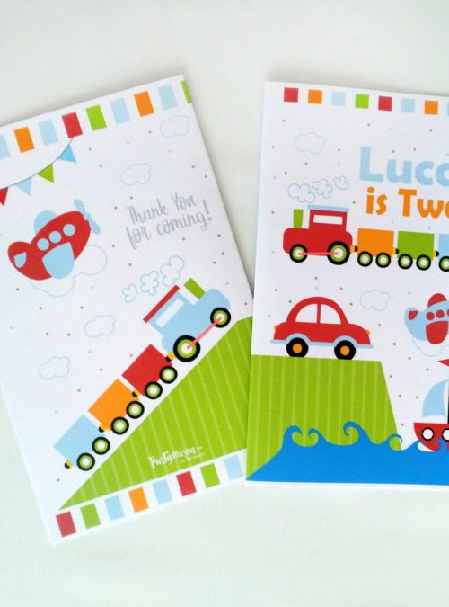 Personalized Transportation Coloring Books | Printable Birthday Party Favor | Children's Activity Booklet | PK09 | E426