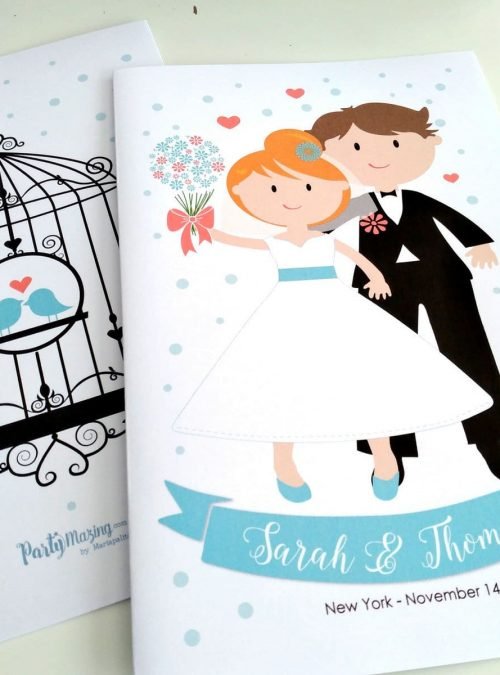 Personalized Wedding Coloring Books | Printable Kids Activity Book | Wedding Children's Party Favor Activity Booklet | PK11 | E408