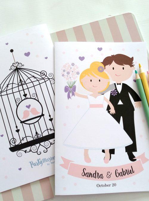 Personalized Wedding Favor Printable Coloring Books | Children's Wedding Party Favor Booklet | PK11 | E434