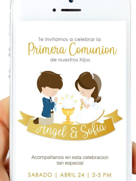Digital Invitation. Girl First Communion Party Ideas and Templates to make an amazing Party. Get inspired to create your own unforgettable celebration for your little girl.