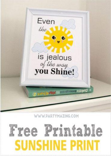 Free Printable Sunshine Print – Nursery or Kids' Room Sign