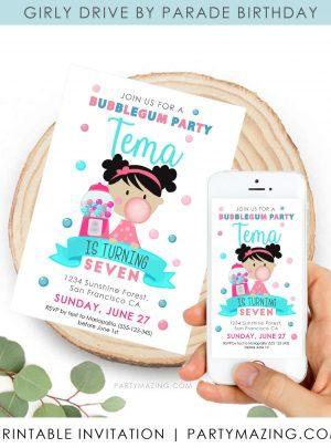 Bubble Gum Party Digital Invitation | Gumball Machine | E524