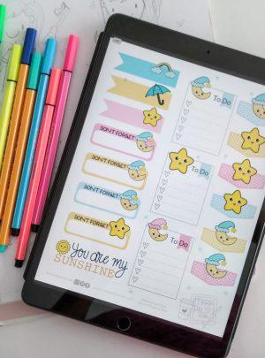 67 Weather Digital Planner Sticker Book| E532