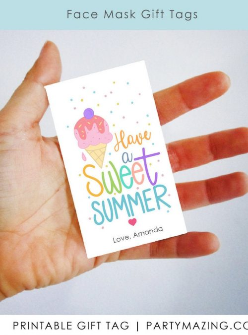 Have a Sweet Summer Gift Tag | Printable End of School Year and Friends Appreciation Label Template | E534