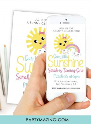 Sunshine Party Digital Invitation E523