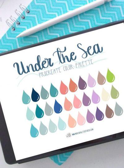 Under The Sea Procreate Color Palette E530