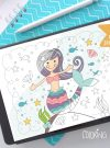 Under The Sea Procreate Color Palette | IPad Digital Swatch Painting Colors | Illustration Color Palette | Procreate Tools E530