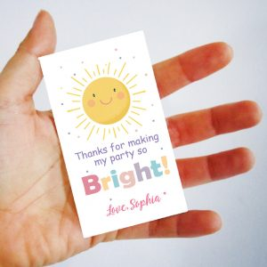 Editable Bright Party Favor Tags | Printable Thank You Gift Tag Template | PK24 | E573