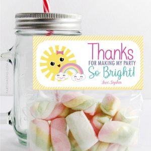 Editable Little Sunshine Bag Topper | Printable Fun Sun Favor Candy Bags | PK24 | E576