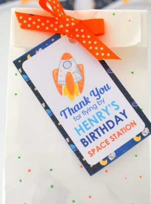 Editable Thank You for Flying by Gift Tag | PK21 | E494