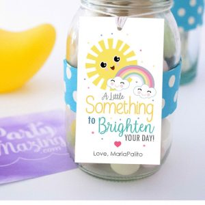 Editable Something to Brighten your Day Gift Tag | Printable Sunshine Label Template | PK24 | E525