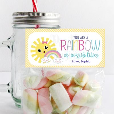 You are a Rainbow of Possibilities Bag Topper | Printable Sunshine Candy Bag Topper PK24 | E390